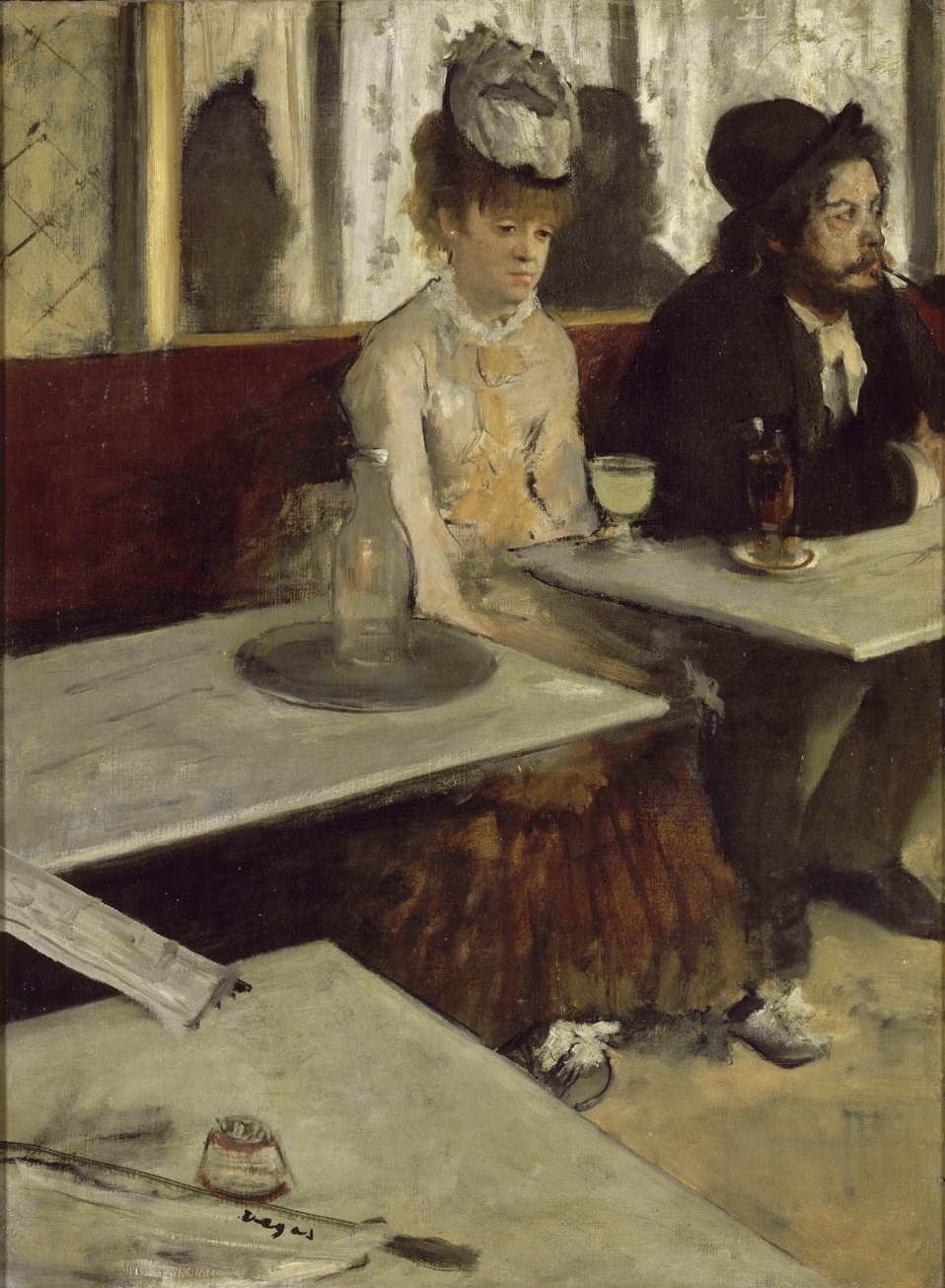 In_a_Cafe_LAbsinthe_by_Edgar_Degas