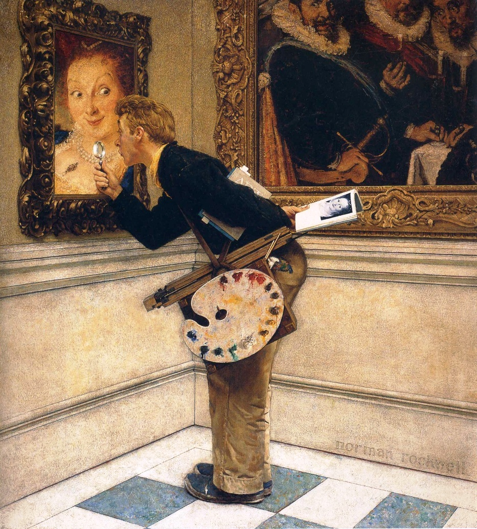 Art Critic by Norman Rockwell 1955
