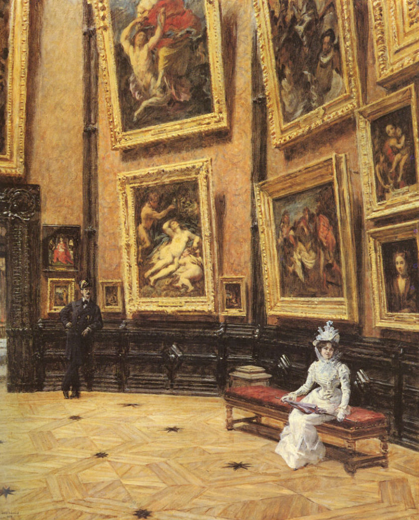 Au Louvre (1899) by Louis Beroud