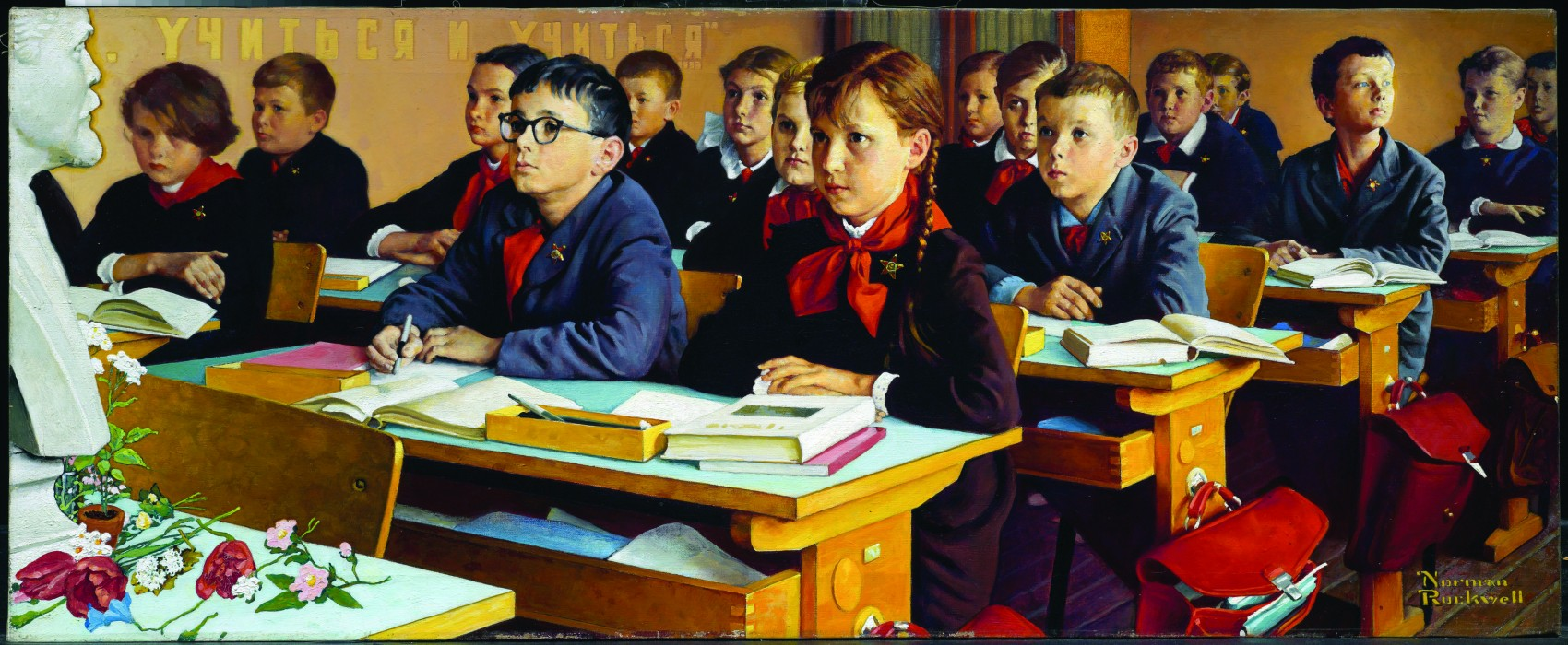 Russian School Room1967- Norman Rockwell