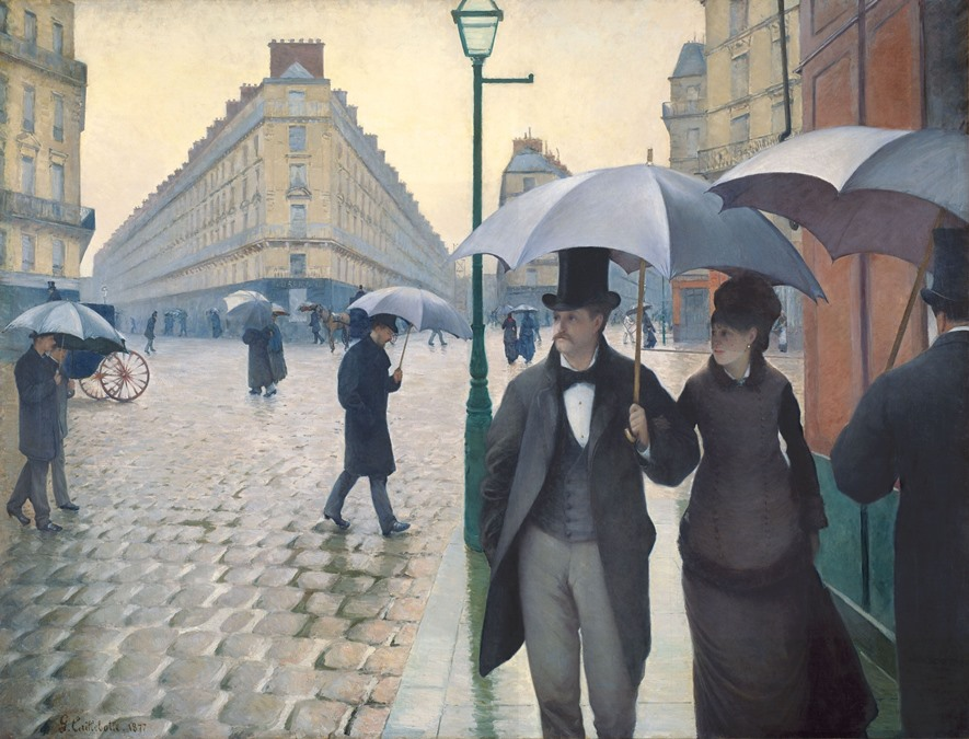 gustave caillebotte - paris street rainy day