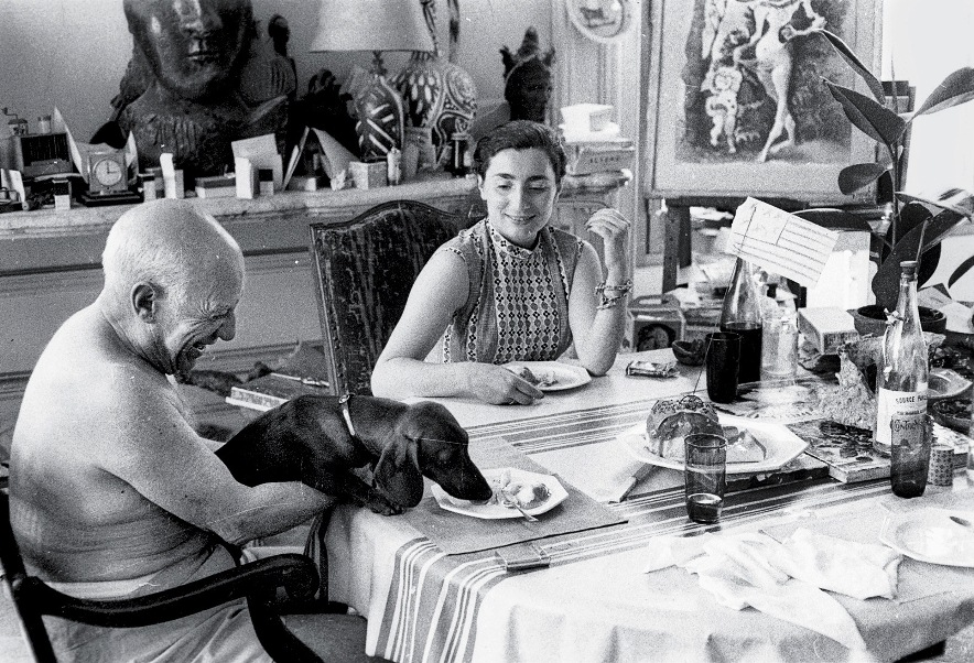 lump and picasso at the table