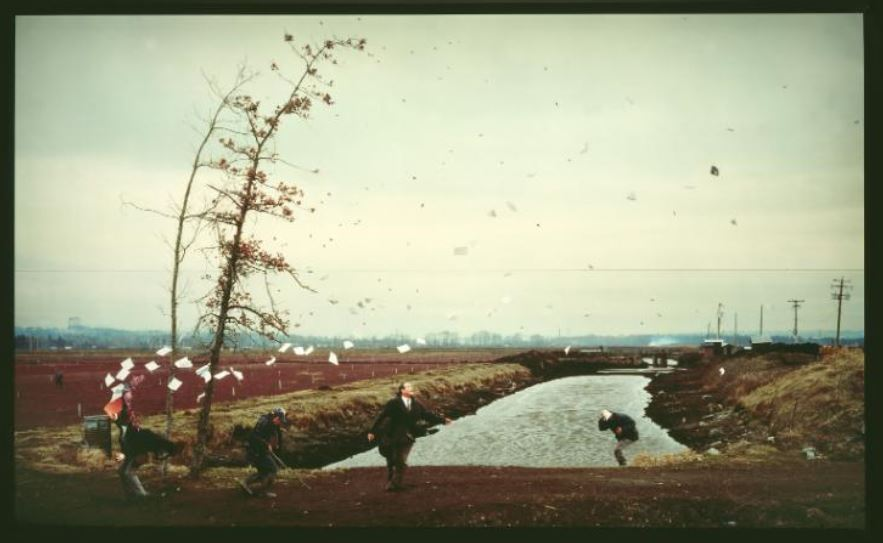 Jeff Wall - A Sudden Gust of Wind (after Hokusai) 1993