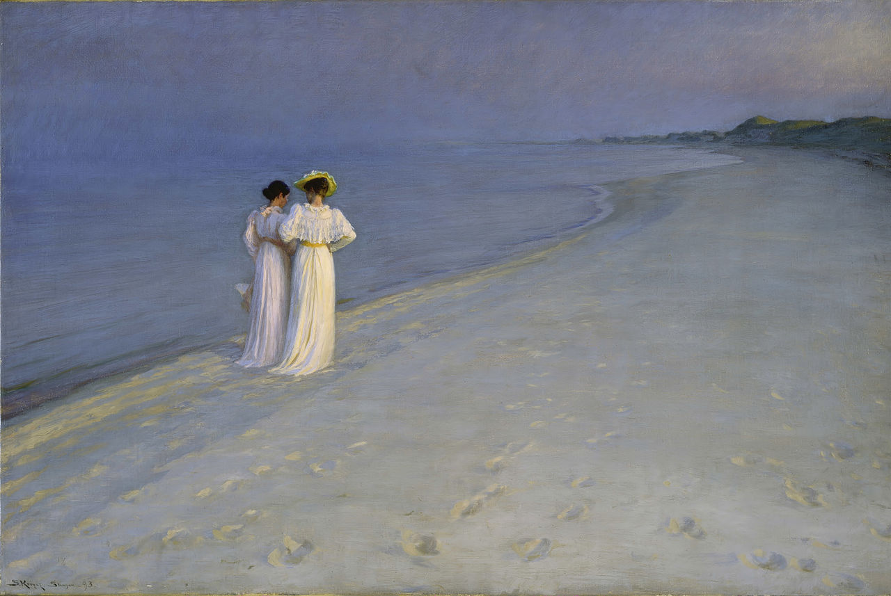 Kroyer - Anna and Marie at the Skagen Beach