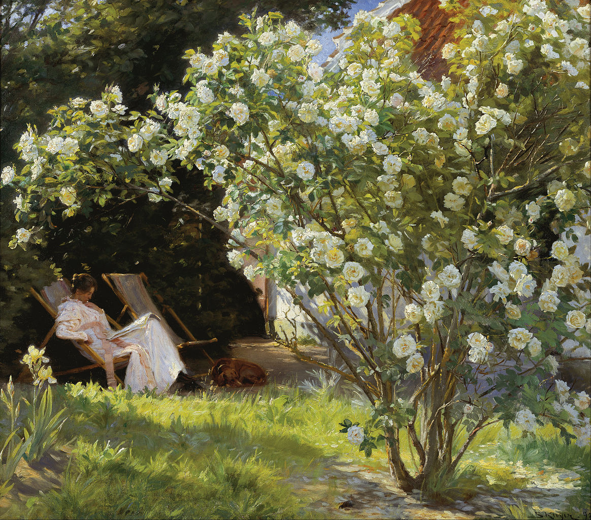 Kroyer - Marie sitting in the rose garden