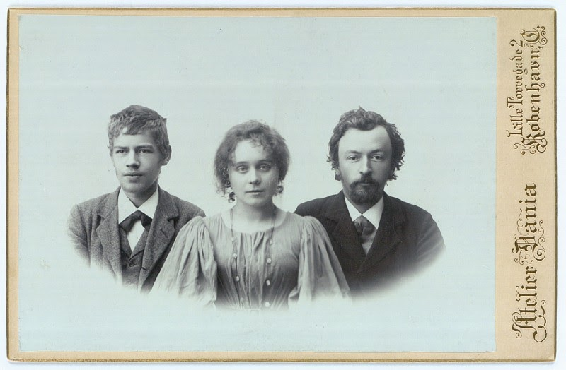 Photograph Of IdA And Vilhelm and a foster son Henry Madsen+1898