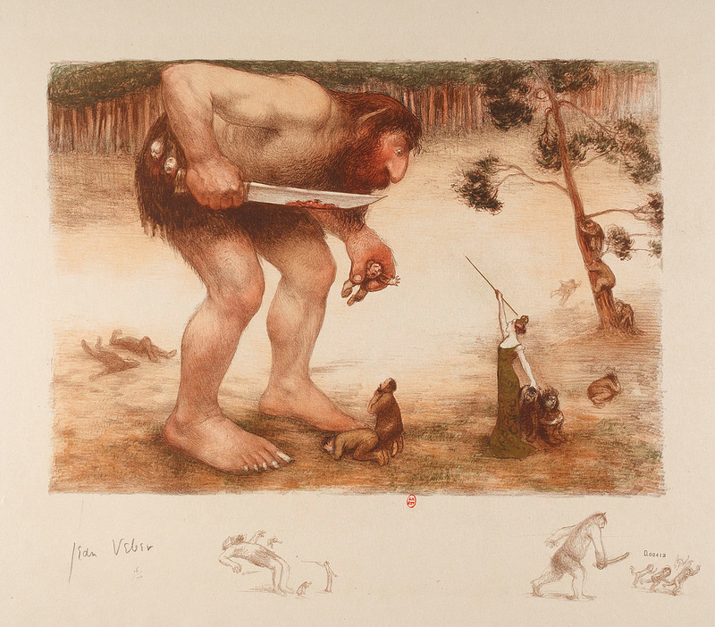Jean Veber The Giant, The Ogre And The Fairy, 1905